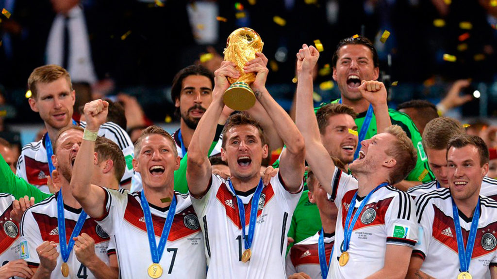 World Cup Football Germany trophy win
