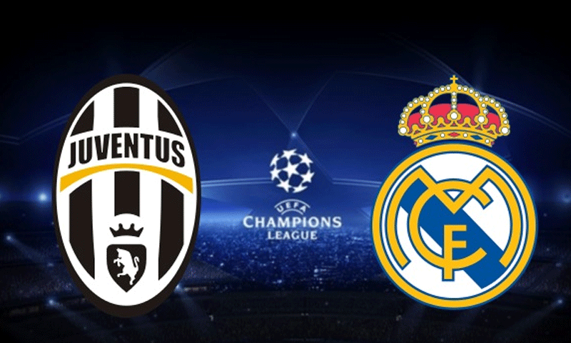 juventus-vs-real-madrid in Champions League