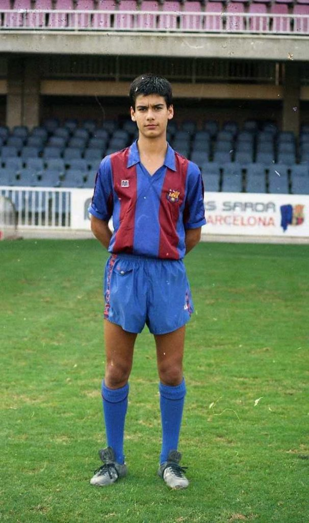 Pep Guardiola at young age