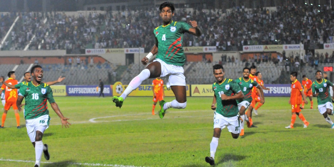 SAFF football 2018: Bangladesh is off to a flying start with defeating Bhutan by 2-0