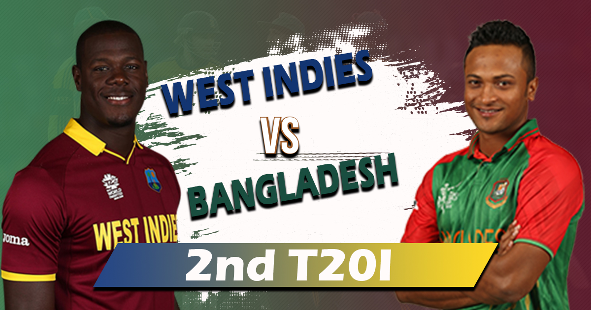 Bangladesh will face West Indies in the 2nd T20 to get back in the contest