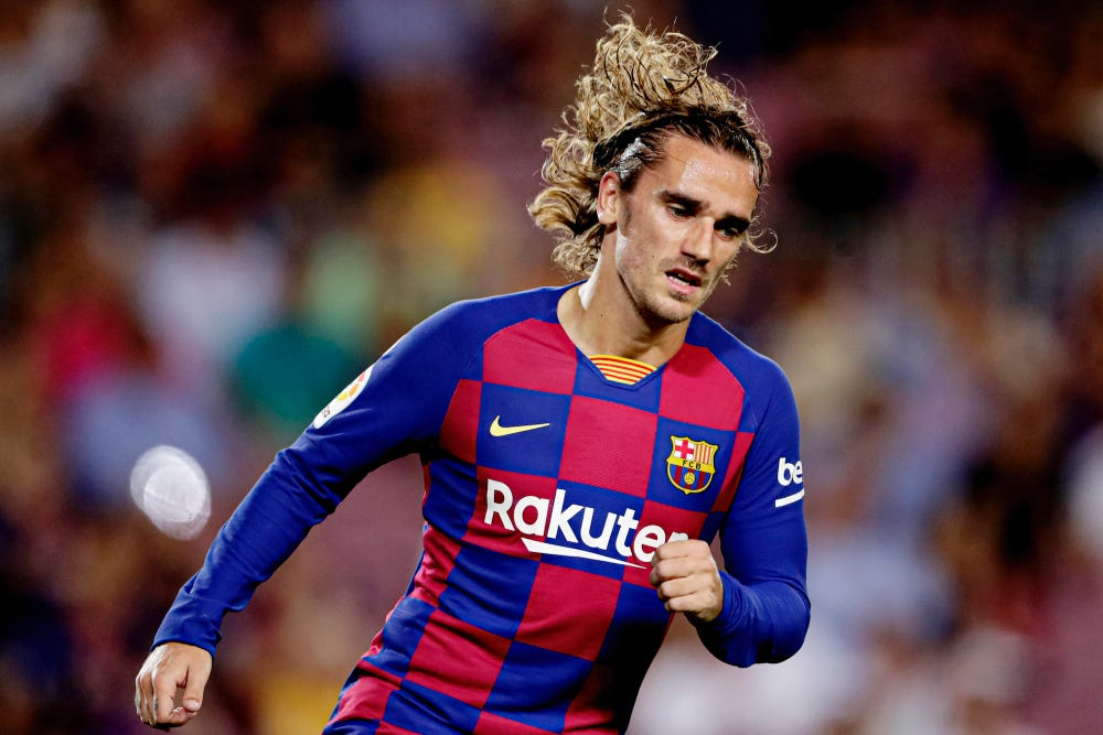 n Saturday, Griezmann will make his 101st appearance for Barcelona when the club travels to Athletic Bilbao in the Spanish league's second round. In Messi's absence,